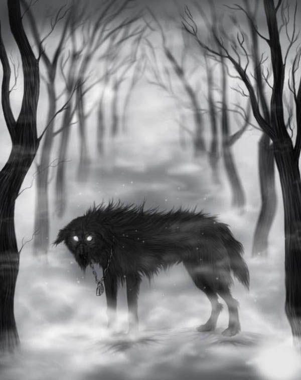 Пёс на кладбище.