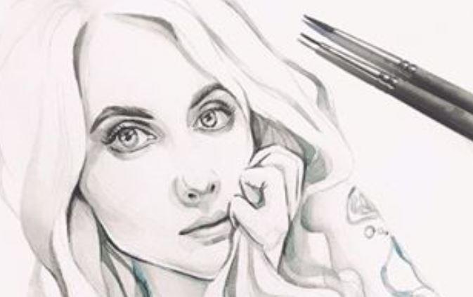 Оживший портрет девушки