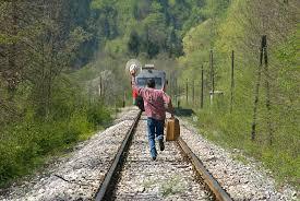 Поезд мы догнали